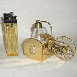machine à vapeur Modèle Cottage plaqué or Lutz Hielscher Quirao idées cadeaux