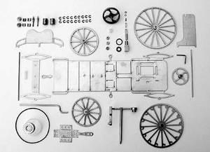 machine à vapeur Voiture 1886, Kit Lutz Hielscher Quirao idées cadeaux