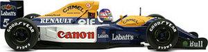 miniature de voiture Williams-Renault FW14B, Winner, Grand Prix of France, #5, Nigel Mansell Exoto Quirao idées cadeaux