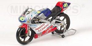 miniature de moto Aprilia 125 Ccm -Nastro Azzurro- Rossi Minichamps Quirao idées cadeaux