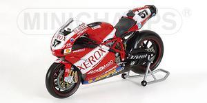 miniature de moto Ducati 999 F05 - Xerox - Lanzi Minichamps Quirao idées cadeaux