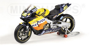 miniature de moto Honda Rc211v Rider - Rossi Minichamps Quirao idées cadeaux