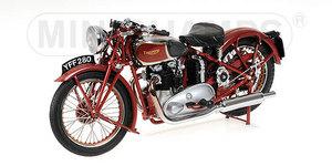 miniature de moto Triumph Speed Twin 1939 rouge Minichamps Quirao idées cadeaux