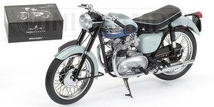 miniature de moto Triumph Bonneville T120 1959 - Gris / bleu Minichamps Quirao idées cadeaux