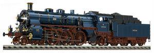 train miniature Locomotive à tender de la DB, type 18.5, avec tender 2'2' T 27.4 (bay), avec interface électrique - Peinture  Seddin -bleu (Echelle HO) 180902 Fleischmann Quirao idées cadeaux
