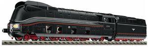 train miniature Locomotive express 03.10 avec carrosserie aérodynamique de la DRG et tender 2'2'2T 34 St. Avec DCC-sound decoder digitale et réglage en fonction de la charge. (Echelle HO) 417171 Fleischmann Quirao idées cadeaux