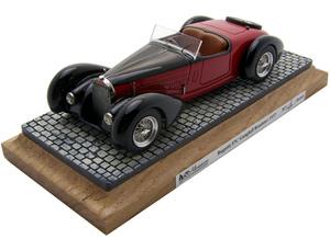 miniature de voiture Bugatti 57C Gangloff 1937 Noire et Rouge Heco Miniatures Quirao idées cadeaux