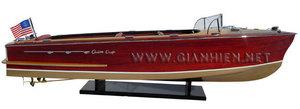 maquette de bateau, voilier, runabout Chris Craft Continental 1959 - 96 cm Gia Nhien Quirao idées cadeaux