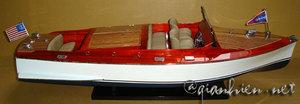 maquette de bateau, voilier, runabout Chris Craft dual Cockpit 82 cm peint Gia Nhien Quirao idées cadeaux