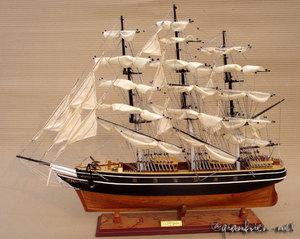 maquette de bateau, voilier, runabout Cutty Sark (coque 70 cm) peint Gia Nhien Quirao idées cadeaux