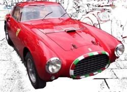 miniature de voiture Ferrari 250MM Ch.0270MM  1953  Rouge   Italian Nose  Ilario Quirao idées cadeaux