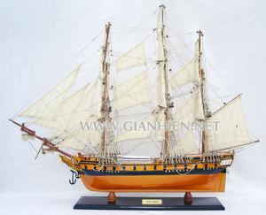 maquette de bateau, voilier, runabout USS Essex peint - 55 cm Gia Nhien Quirao idées cadeaux