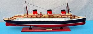 maquette de bateau, voilier, runabout TSS Normandie - 80 cm Gia Nhien Quirao idées cadeaux