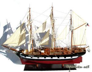 maquette de bateau, voilier, runabout Jeanie Johnston - coque 80 cm Gia Nhien Quirao idées cadeaux