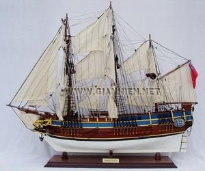 maquette de bateau, voilier, runabout HMS Bounty peint (coque 60 cm) Gia Nhien Quirao idées cadeaux