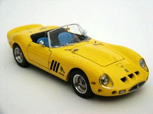 miniature de voiture Ferrari 250 GTO 1962  Spyder    Yellow Ilario Quirao idées cadeaux