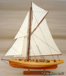 maquette de bateau, voilier, runabout Puritan - 60 cm Gia Nhien Quirao idées cadeaux