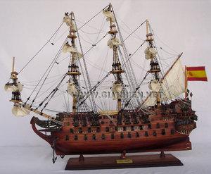 maquette de bateau, voilier, runabout San Felipe - coque 60 cm Gia Nhien Quirao idées cadeaux