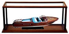 maquette de bateau, voilier, runabout Vitrine pour bateau sport 80 cm Gia Nhien Quirao idées cadeaux
