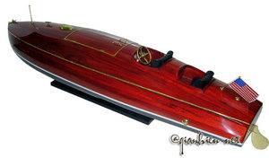 maquette de bateau, voilier, runabout Zipper hydroplane - 95 cm Gia Nhien Quirao idées cadeaux