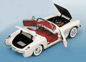 miniature de voiture Chevrolet Corvette 1956 The Franklin Mint Quirao idées cadeaux