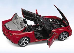 miniature de voiture Chevy Corvette Indy 500 pace car 2005 The Franklin Mint Quirao idées cadeaux