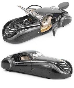 miniature de voiture Duesenberg Coupe Simone  Midnight Ghost  1939 The Franklin Mint Quirao idées cadeaux