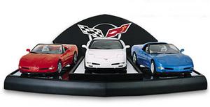 miniature de voiture All american Corvette 3 pce set The Franklin Mint Quirao idées cadeaux