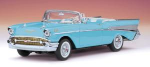 miniature de voiture Chevrolet Bel Air Cabriolet 1957 bleue The Franklin Mint Quirao idées cadeaux