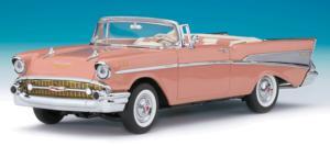 miniature de voiture Chevrolet Bel Air Cabriolet 1957 rose The Franklin Mint Quirao idées cadeaux