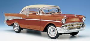 miniature de voiture Chevrolet Bel Air, hard top 1957 The Franklin Mint Quirao idées cadeaux