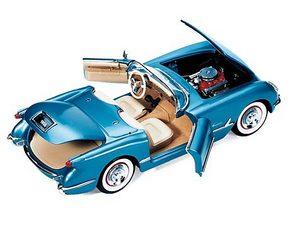 miniature de voiture Chevrolet Corvette conv 1955 The Franklin Mint Quirao idées cadeaux