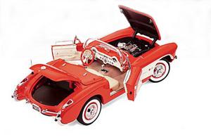 miniature de voiture Chevrolet Corvette fuelie fibreglas 1957 The Franklin Mint Quirao idées cadeaux