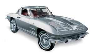 miniature de voiture Corvette Stingray Fiberglass 1963 The Franklin Mint Quirao idées cadeaux