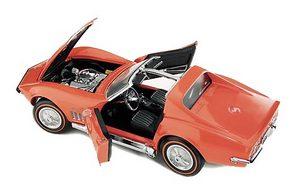 miniature de voiture Corvette Stingray 1969 The Franklin Mint Quirao idées cadeaux