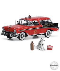 miniature de voiture Chevrolet Nomad Fire Chief's Wagon - 1956 The Franklin Mint Quirao idées cadeaux