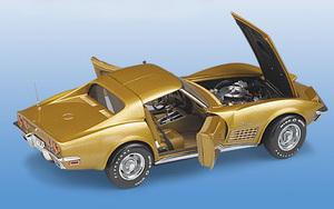 miniature de voiture Corvette Coupé 1971 - or The Franklin Mint Quirao idées cadeaux