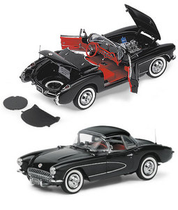 miniature de voiture Corvette fiberglass  1956 The Franklin Mint Quirao idées cadeaux