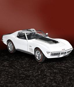 miniature de voiture Corvette zl1 1969 - blanc The Franklin Mint Quirao idées cadeaux