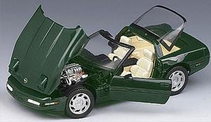 miniature de voiture Corvette zr1 1993 - vert The Franklin Mint Quirao idées cadeaux