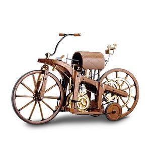 miniature de moto Daimler wood motorcycle 1885 The Franklin Mint Quirao idées cadeaux