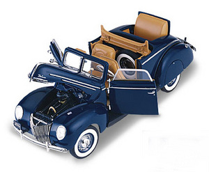 miniature de voiture Ford convertible coupe 1939 -worlds fair- The Franklin Mint Quirao idées cadeaux
