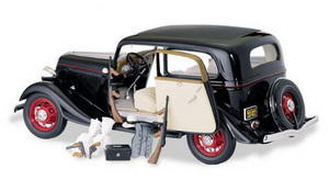miniature de voiture Ford Coupé 1933 -John Dillinger- The Franklin Mint Quirao idées cadeaux