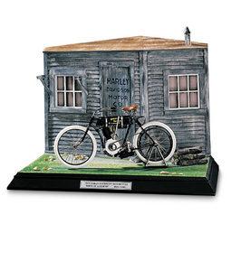 miniature de moto Harley Davidson diorama 1903 The Franklin Mint Quirao idées cadeaux