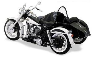 miniature de moto Harley Davidson duo glide & side car 1958 The Franklin Mint Quirao idées cadeaux