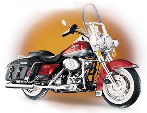 miniature de moto Harley Davidson road king The Franklin Mint Quirao idées cadeaux