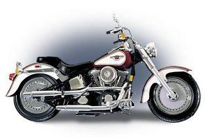 miniature de moto Harley Fat Boy 1998 95th anni The Franklin Mint Quirao idées cadeaux