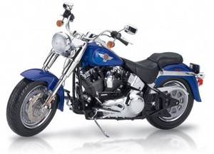miniature de moto Harley Fat Boy - bleu The Franklin Mint Quirao idées cadeaux