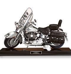 miniature de moto Heritage Softail Classic (étain) The Franklin Mint Quirao idées cadeaux