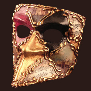 Venetian mask Bauta Doge Blue Moon Mask